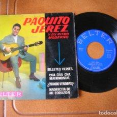 Discos de vinilo: DISCO DE PAQUITO JEREZ Y SU RITMO MODERNO AÑO 1961. Lote 172078888