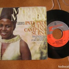 Discos de vinilo: DISCO DE MIRIAM MAKEBA ,SUENA CAMPANA SUENA Y PATA PATA. Lote 172084029