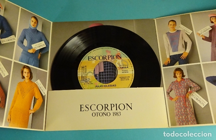 JULIO IGLESIAS. DISCO PUBLICITARIO MARCA ESCORPION (Música - Discos de Vinilo - EPs - Solistas Españoles de los 70 a la actualidad)