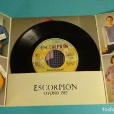 Discos de vinilo: JULIO IGLESIAS. DISCO PUBLICITARIO MARCA ESCORPION. Lote 172094335
