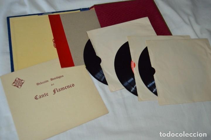 RARÍSIMO ESTUCHE COMPLETO - TELEFUNKEN 1958 - SELECCIÓN ANTOLÓGICA DEL CANTE FLAMENCO - ¡MIRA! (Música - Discos - Singles Vinilo - Flamenco, Canción española y Cuplé)
