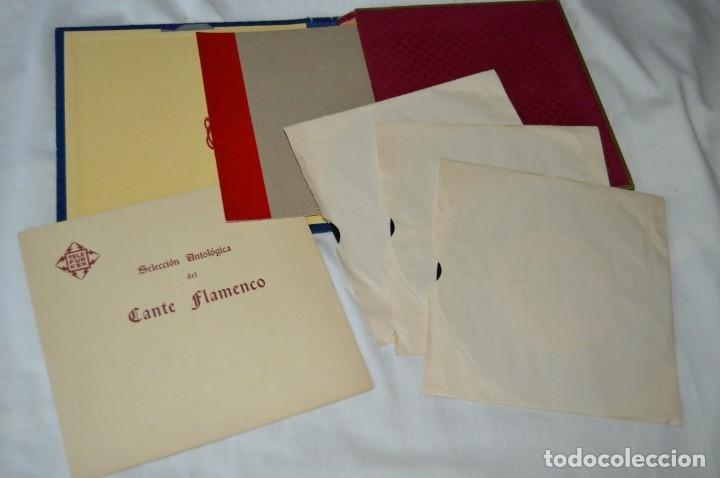 Discos de vinilo: Rarísimo ESTUCHE COMPLETO - TELEFUNKEN 1958 - Selección Antológica del Cante Flamenco - ¡Mira! - Foto 3 - 172110038