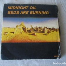 Disques de vinyle: MIDNIGHT OIL BEDS ARE BURNING (PROMO, SINGLE SIDED). Lote 172112042