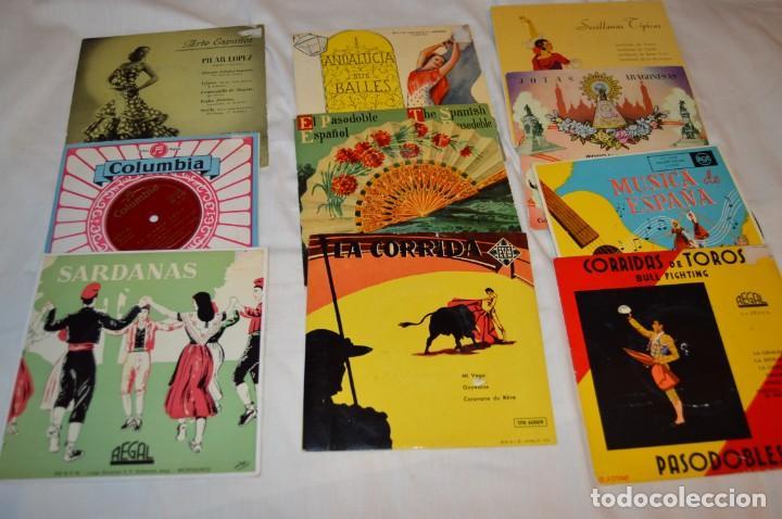 LOTE 10 SINGLES / AÑOS 50 - 60, COMPAÑÍAS REGAL, RCA, COLUMBIA, TELEFUNKEN, LA VOZ DE SU AMO ¡MIRA! (Música - Discos - Singles Vinilo - Flamenco, Canción española y Cuplé)