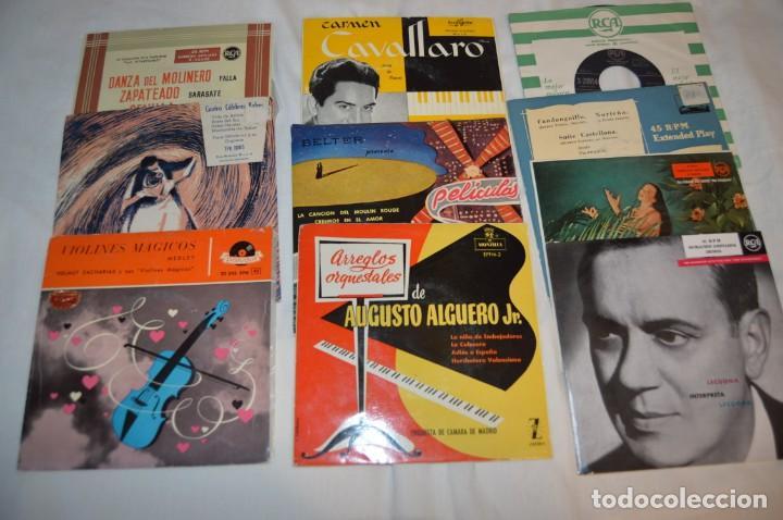 LOTE 10 SINGLES - AÑOS 50/60, COMPAÑÍAS ZAFIRO, RCA, COLUMBIA, TELEFUNKEN, LA VOZ DE SU AMO Y OTRAS. (Música - Discos - Singles Vinilo - Clásica, Ópera, Zarzuela y Marchas)