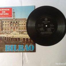 Discos de vinilo: L.P. SINGLE 33/R.P.M DISCO DE MICROSURCO.MONOAURAL CAMINOS DE ESPAÑA, Nº 1 BILBAO. VER FOTO. Lote 172114750