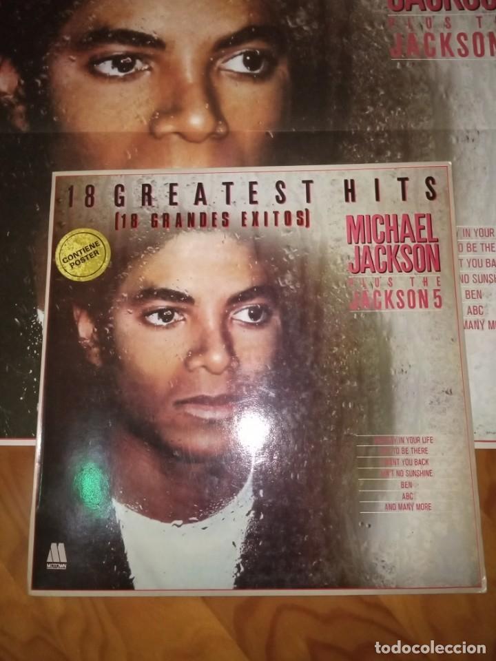 Discos de vinilo: Disco LP más Pósters Original del álbum Michael Jackson 18 Grandes Éxitos. - Foto 2 - 172118139
