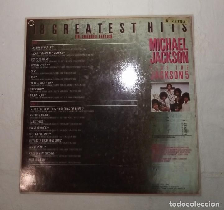 Discos de vinilo: Disco LP más Pósters Original del álbum Michael Jackson 18 Grandes Éxitos. - Foto 4 - 172118139