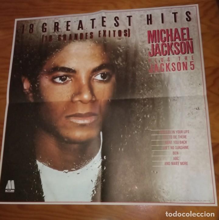 Discos de vinilo: Disco LP más Pósters Original del álbum Michael Jackson 18 Grandes Éxitos. - Foto 5 - 172118139