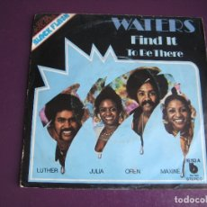 Discos de vinilo: THE WATERS SG BLUE NOTE 1975 - FIND IT +1 FUNK SOUL 70'S - SIN USO. Lote 172118255