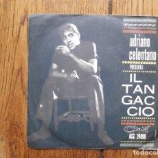 Discos de vinilo: ADRIANO CELENTANO - IL TANGACCIO + GRAZIE, PREGO, SCUSI. Lote 172138624