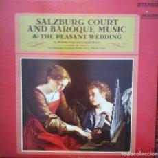 Discos de vinilo: SALZBURG COURT Y MÚSICA BARROCA. POR W. JERGER Y L. MOZART. Lote 172156988