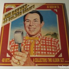 Discos de vinilo: JIM REEVES - 40 GOLDEN GREATS (2XLP, COMP). Lote 172170770