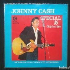 Discos de vinilo: JOHNNY CASH - JOHNNY CASH SPECIAL (16 ORIGINAL HITS). Lote 172175878