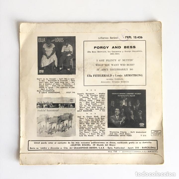 Discos de vinilo: EP vinilo - PORGY And BESS / Ella Fitzgerald & Louis Armstrong - Foto 3 - 172176789