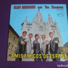 Discos de vinil: CLIFF RICHARD THE SHADOWS EP EMI 1963 A MIS AMIGOS DE ESPAÑA - AMOR/ FRENESI +2 POP BEAT ROCK SURF. Lote 172204448