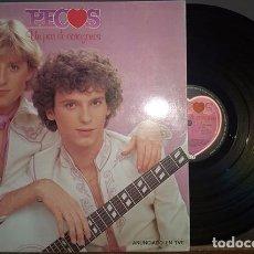 Discos de vinilo: LP PECOS UN PAR DE CORAZONES EPIC 1979. Lote 172217158