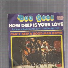 Discos de vinilo: BEE GEES HOW DEEP IS. Lote 194289113