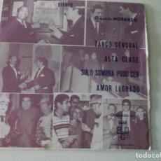 Discos de vinilo: ORQUESTA MORANDO, TANGO SENSUAL,ALTA CLASE,SOLO SOMBRA PUDO SER,AMOR LLORADO, STEREO,PROMOCIONAL1974. Lote 172222653