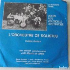 Discos de vinilo: L'ORCHESTRE DE SOLISTES / HENRI HONEGGER – CONCERT À L'ÉCOLE. Lote 172223465
