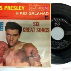 Discos de vinilo: EP EDITADO EN ESPAÑA ELVIS PRELEY IN KID GALAHAD SIX GREAT SONG RCA VICTOR 3-20458. Lote 172227549