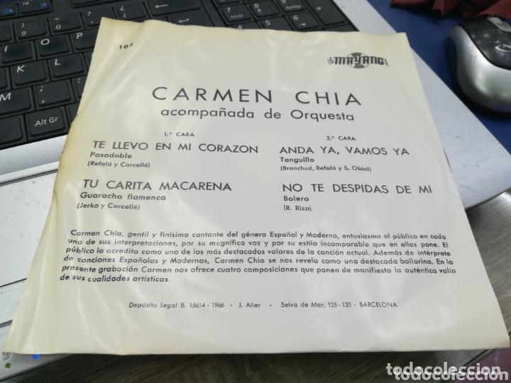 Discos de vinilo: Carmen Chía ep te llevo en mi corazón + 3 1966 - Foto 2 - 172241489