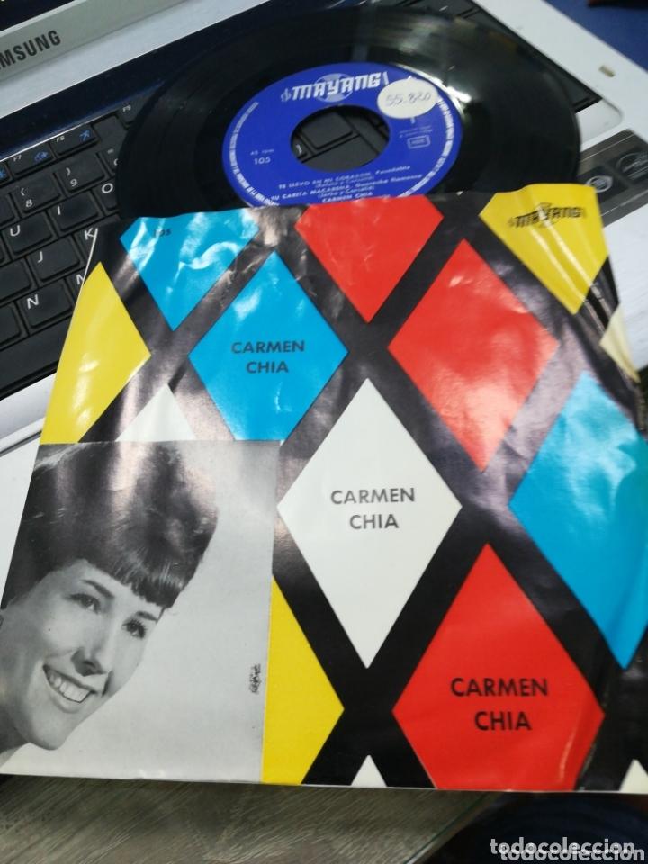 CARMEN CHÍA EP TE LLEVO EN MI CORAZÓN + 3 1966 (Música - Discos de Vinilo - EPs - Flamenco, Canción española y Cuplé)