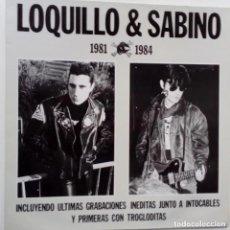 Discos de vinilo: LOQUILLO & SABINO INCLUYE GRABACIONES INTOCABLES Y TROGLODITAS CONTIENE ENCARTE LETRAS. Lote 172251838