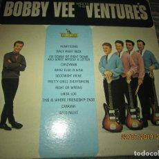 Discos de vinilo: BOBBY VEE MEETS THE VENTURES LP - ORIGINAL U.S.A. - LIBERTY RECORDS 1963 FUNDA INT. GENERICA -. Lote 172253395