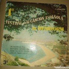 Discos de vinilo: PRIMER FESTIVAL DE LA CANCIÓN DE BENIDORM. Lote 172254069