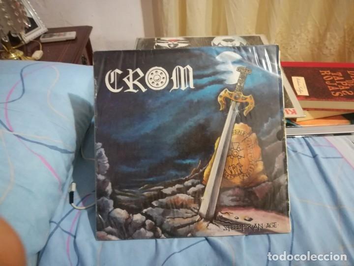 CROM - STEEL FOR AN AGE - LP SNIF LD 12.009 - 1987 EDICIÓN ESPAÑOLA ORIGINAL (Música - Discos - LP Vinilo - Heavy - Metal)