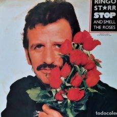 Discos de vinilo: LP VINILO RINGO STARR: STOP AND SMELL THE ROSES, ESPAÑA 1981, MUY BUEN ESTADO(VG+-VG+). Lote 172269113