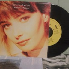 Discos de vinilo: BEVERLEY CRAVEN WOMAN TO WOMAN SINGLE SPAIN 1990 PDELUXE. Lote 172282088