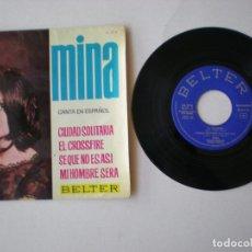Discos de vinilo: MINA - CIUDAD SOLITARIA + 3 - BELTER 51374 - ESPAÑA 1964. Lote 172282330