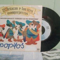 Discos de vinilo: BANDA SONORA ORIGINAL - POPITOS D'ARTACAN Y LOS TRES MOSQUE SINGLE SPAIN 1982 PDELUXE. Lote 172284509