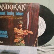 Discos de vinilo: BANDA SONORA ORIGINAL - OLIVER ONIONS SANDOKAN - SWEET LADY BLUE SINGLE SPAIN 1976 PDELUXE. Lote 172284800