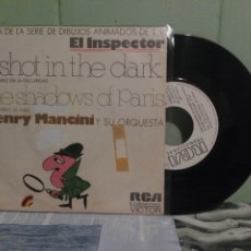 Discos de vinilo: BANDA SONORA ORIGINAL - H.MANCINI EL INSPECTOR- A SHOT IN THE DARK SINGLE SPAIN 1972 PDELUXE. Lote 172285462