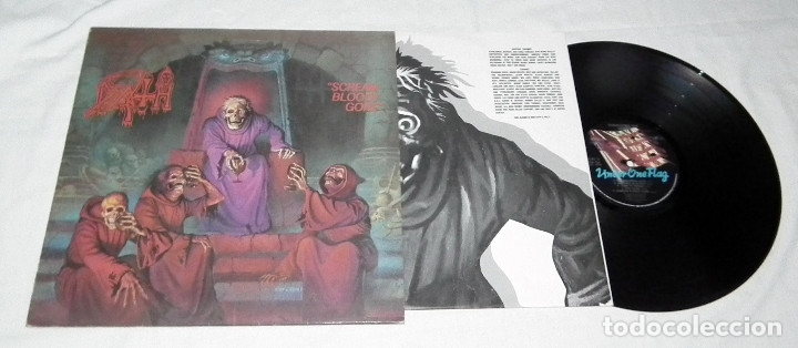 Discos de vinilo: LP DEATH - SCREAM BLOODY GORE - Foto 3 - 172297419