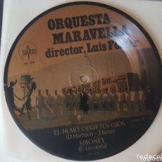 Discos de vinilo: ORQUESTA MARAVELLA PICTURE DISC SINGLE 45RPM SYBONEY LUIS FERRER. Lote 172301239