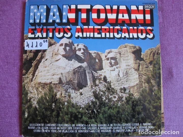 LP - MANTOVANI - EXITOS AMERICANOS (SPAIN, DECCA 1977) (Música - Discos - LP Vinilo - Orquestas)