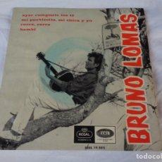 Discos de vinil: BRUNO LOMAS AYER CUMPLISTE LOS 16/MI PUEBLECITO MI CHOCA Y YO/CORRE CORRE/BAMBI EP 1966 REGAL. Lote 172315319