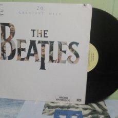 Discos de vinilo: THE BEATLES 20 GREATEST HITS LP MEJICO 1982 PEPETO TOP . Lote 172319878