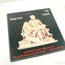 Discos de vinilo: REQUIEM VERDI. COFRE 2 LPS Y LIBRETO. ROYAL PHILHARMONIC ORCHESTRA. Lote 172321655