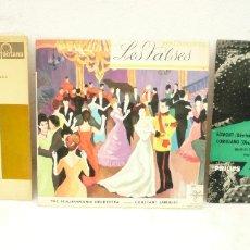 Discos de vinilo: LOTE 3 LPS DE 10 PULGADAS: STRAUSS Y SUPPÉ, VALSES DE WALDTEUFEL Y BEETHOVEN EGMONT Y COROLIANO. Lote 172321845