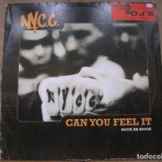 Discos de vinilo: N.Y.C.C. ?– CAN YOU FEEL IT (ROCK DA HOUSE) - CONTROL 1998 - MAXI - PLS 894. Lote 172331197