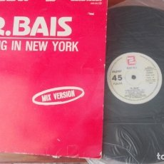 Discos de vinilo: MAXI - R. BAIS - LIVING IN NEW YORK / WHEN I CLOSE MY EYES - ZAFIRO 1984. Lote 172343379