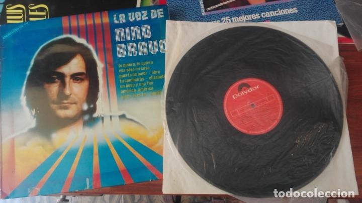VINILO LP - LA VOZ DE NINO BRAVO / (Música - Discos de Vinilo - Maxi Singles - Cantautores Españoles)