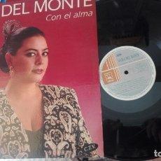 Discos de vinilo: MARÍA DEL MONTE. 'CON EL ALMA'.. Lote 172344785