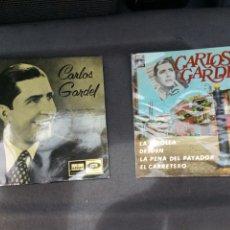 Discos de vinilo: OFERTA! CARLOS GARDEL SINGLES 1958 Y 1969. EMI ODEÓN. Lote 172346607