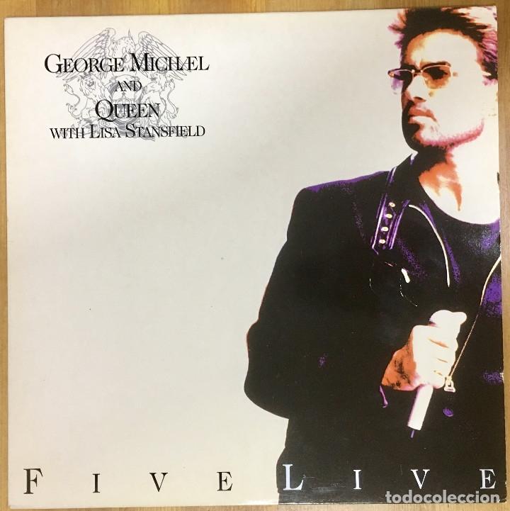 GEORGE MICHAEL AND QUEEN WHITH LISA STANFIELD - FIVE LIVE (Música - Discos - Singles Vinilo - Pop - Rock Extranjero de los 90 a la actualidad)